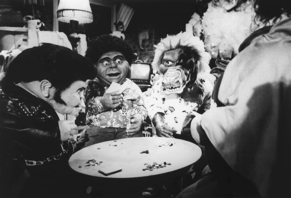 THE GARBAGE PAIL KIDS MOVIE, Phil Fondacaro (as Greaser Greg), Arturo Gil (as Windy Winston), Kevin Thompson (as Ali Gator), 1987, (c)Atlantic Releasing