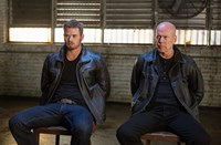 EXTRACTION, from left: Kellan Lutz, Bruce Willis, 2015. ph: Sam Emerson/©Lionsgate