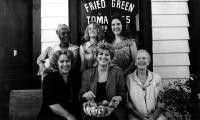 FRIED GREEN TOMATOES, (back row) Cicely Tyson, Mary Stuart Masterson, Mary Lousie Parker; (front row) Kathy Bates, author Fannie Flagg, Jessica Tandy, 1991