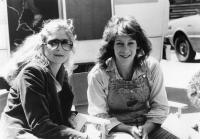 THE FOG, producer Debra Hill, Jamie Lee Curtis on set, 1980, (c) Avco Embassy
