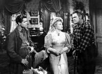 THE DESPERADOES, Glenn Ford, Claire Trevor, Guinn Williams, 1943.
