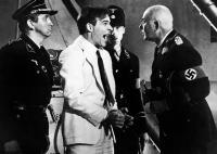 DEAD MEN DON'T WEAR PLAID, Steve Martin (in handcuffs), Carl Reiner (right), 1982, (c) Universal