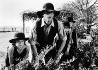 DEADLY BLESSING, Chester Kulas Jr. (left), Michael Berryman (center), 1981. ©United Artists