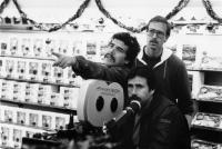 COBRA, director George Pan Cosmatos, assistant director Duncan Henderson, (back), cinematographer Rick Neff (below), on location, 1986, ©Warner Bros. /