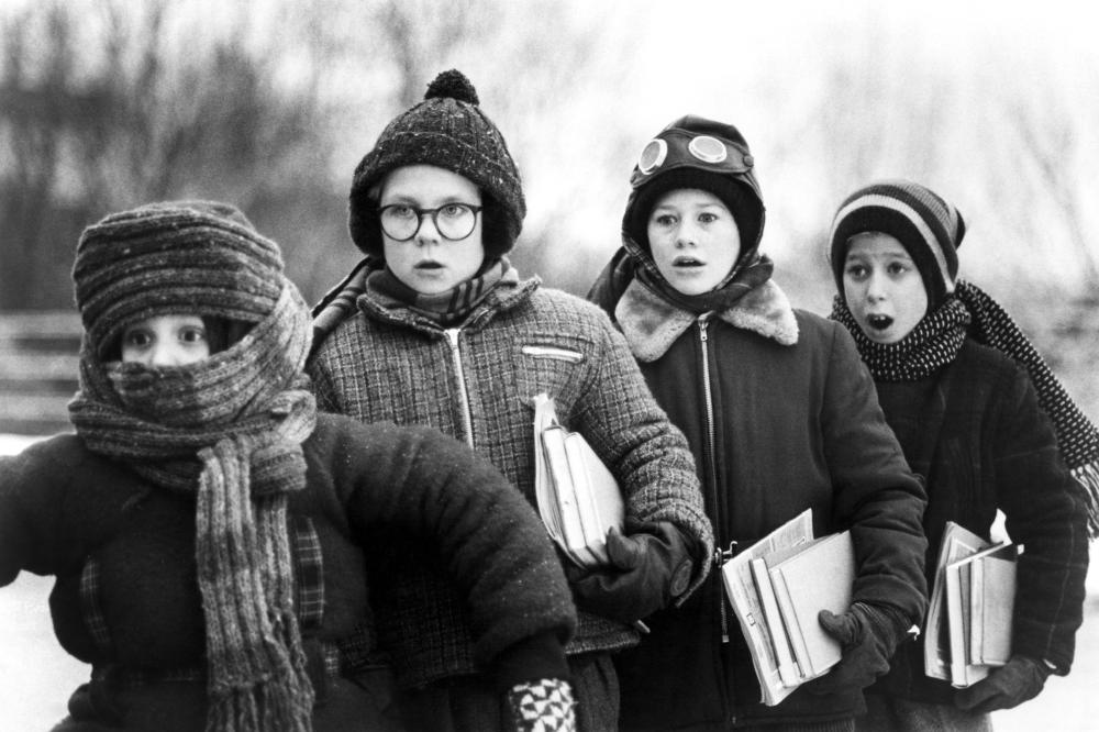 A CHRISTMAS STORY, Ian Petrella (left), Peter Billingsley (2nd to left), 1983