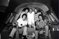 AIRPLANE!, Jerry Zucker, Howard Koch, Robert K. Weiss, David Zucker, Jim Abrahams, on set, 1980