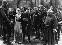 THE ADVENTURES OF ROBIN HOOD, Ian Hunter, Alan Hale Sr., Olivia de Havilland, Errol Flynn, Herbert Mundin, Patric Knowles, Eugene Pallette, 1938