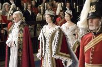 THE YOUNG VICTORIA, Jim Broadbent, as King William (left), Emily Blunt, as Victoria (center of frame), 2009. ©Momentum Pictures