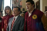 WORLD'S GREATEST DAD, from left: Alexie Gilmore, Robin Williams, Zach Sanchez, 2009. ©Magnolia Pictures