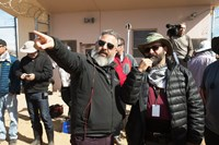WHISKEY TANGO FOXTROT, foreground from left: director Glenn Ficarra, cinematographer Xavier Grobet, on set, 2016. ph: Frank Masi/© Paramount Pictures