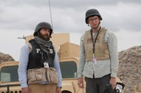 WHISKEY TANGO FOXTROT, from left: Christopher Abbott, Nicholas Braun, 2016. ph: Frank Masi/© Paramount Pictures