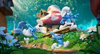 SMURFS: THE LOST VILLAGE, from left: Clumsy (voice: Jack McBrayer), Hefty (voice: Joe Manganiello), Brainy (voice: Danny Pudi), 2017. © Columbia Pictures