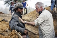 FREE STATE OF JONES, from left: Matthew McConaughey, director Gary Ross, on location, bunker, 2016. ph: Murray Close/©STX Entertainment