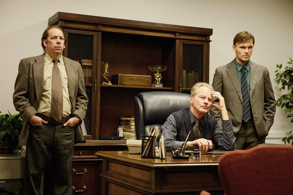 MIDNIGHT SPECIAL, from left: Bill Camp, Sam Shepard, Scott Haze, 2016. ph: Ben Rothstein/© Warner Bros.