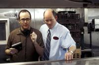 WAITING, director Rob McKittrick, David Koechner on set, 2005, (c) Lions Gate