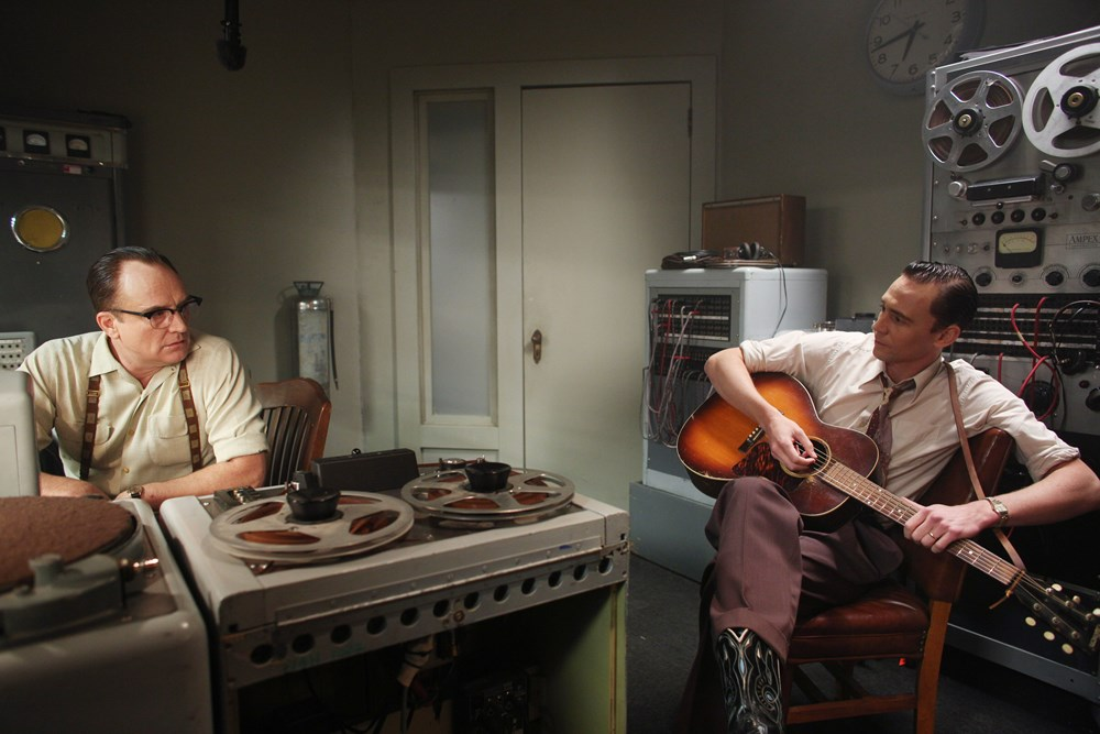 I SAW THE LIGHT, from left: Bradley Whitford, Tom Hiddleston as Hank Williams, 2015. ph: Sam Emerson/© Sony Pictures Classics