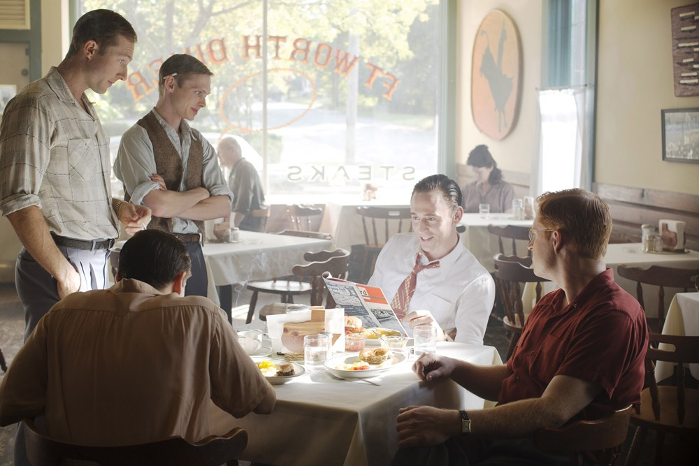 I SAW THE LIGHT, from left: Casey Bond, Joshua Brady, Tom Hiddleston as Hank Williams, Wesley Robert Langlois, 2015. ph: Alan Markfield/© Sony Pictures Classics