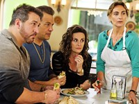 MY BIG FAT GREEK WEDDING 2, l-r: Joey Fatone, Louis Mandylor, Gia Carides, Stavroula Logothettis, 2016. ph: George Kraychyk/©Universal Pictures