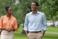 SOUTHSIDE WITH YOU, from left: Tika Sumpter as Michelle Robinson, Parker Sawyers as Barack Obama, 2016. ph: Matt Dinerstein/© Roadside Attractions