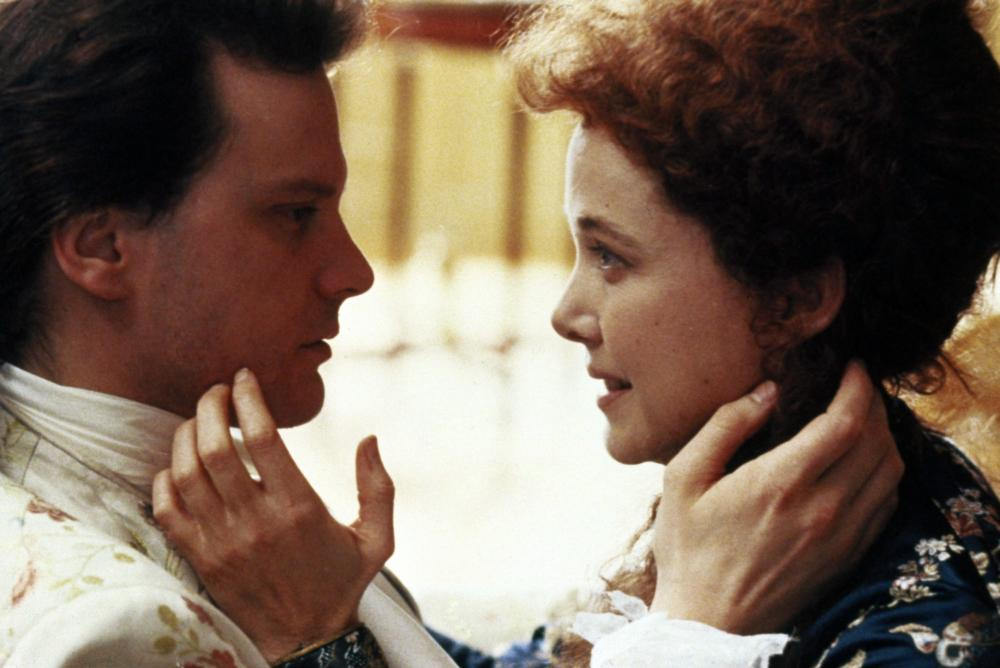 VALMONT, Colin Firth, Annette Bening, 1989, (c) Orion