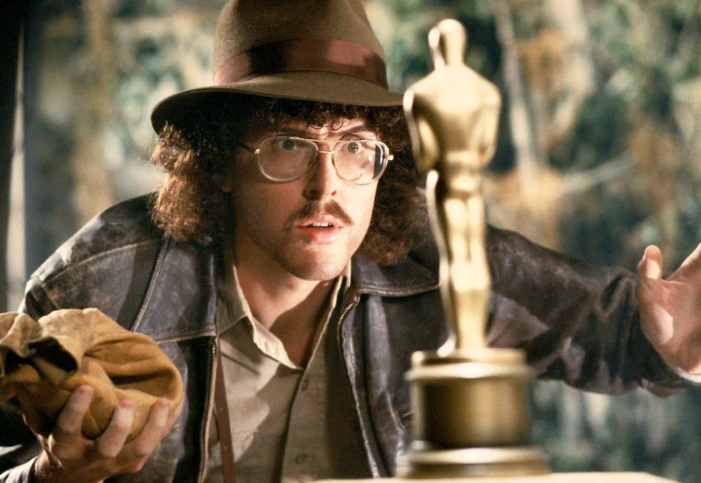 UHF, Weird Al Yankovic, as Indiana Jones, 1989. ©Orion Pictures