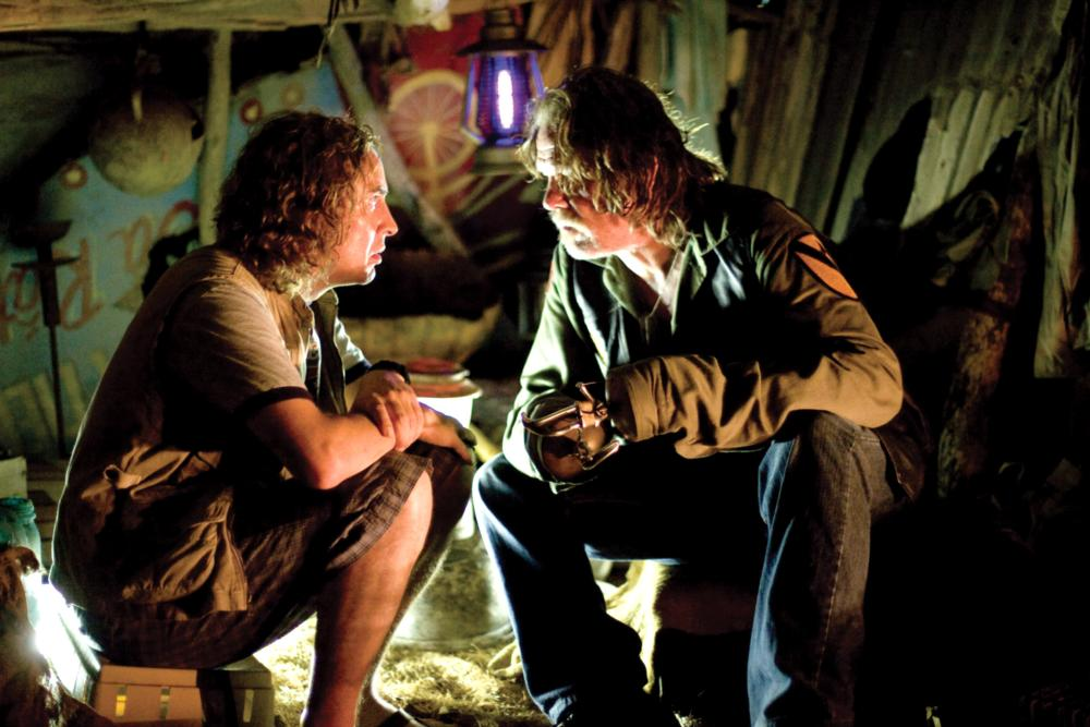 TROPIC THUNDER, from left: Steve Coogan, Nick Nolte, 2008. ©DreamWorks Distribution