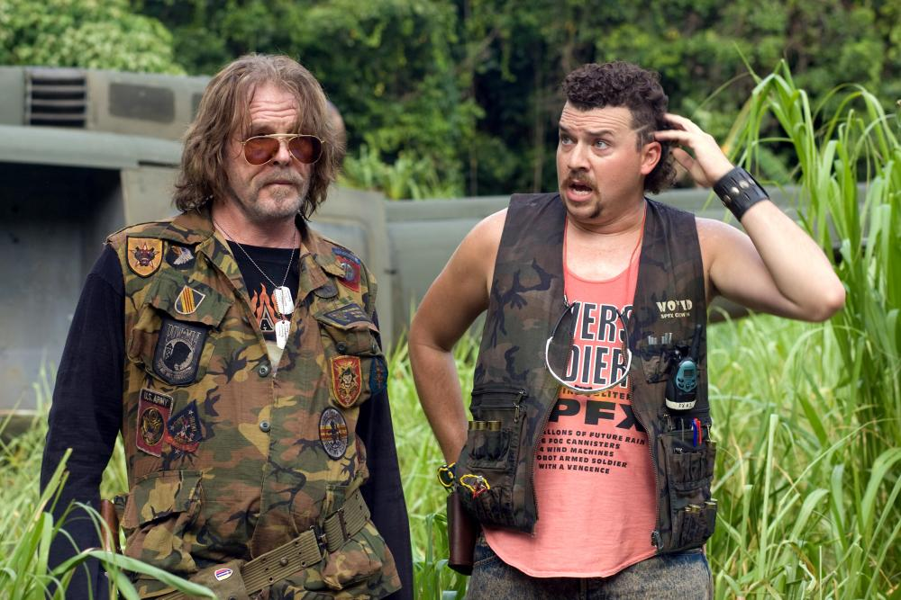 TROPIC THUNDER, from left: Nick Nolte, Danny McBride, 2008. ©DreamWorks Distribution