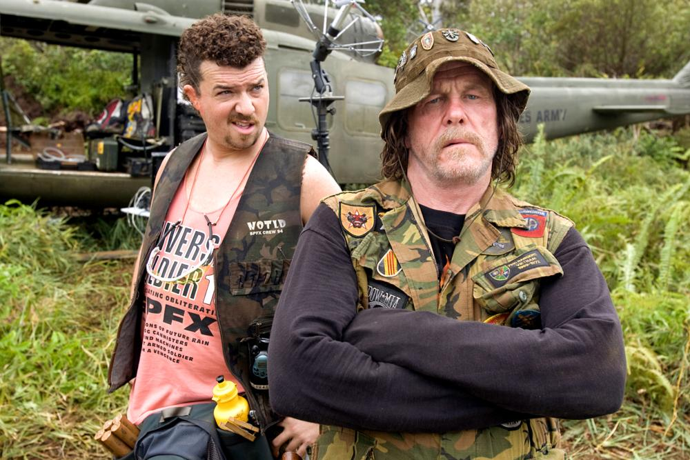 TROPIC THUNDER, from left: Danny McBride, Nick Nolte, 2008. ©DreamWorks Distribution