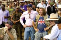 TROPIC THUNDER, foreground center from left:  Bill Hader (pink shirt), Steve Coogan (union jack shirt), 2008. ©DreamWorks Distribution