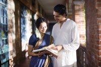 THE MAN WHO KNEW INFINITY,  from left: Devika Bhise, Dev Patel, 2015. ph: Richard Blanshard/© IFC Films