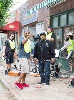 BARBERSHOP: THE NEXT CUT, l-r: director Malcolm D. Lee, Ice Cube on set, 2016. ph: Chuck Zlotnick/©New Line Cinema