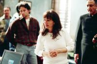 TORTILLA HEAVEN, director Judy Hecht Dumontet (center), Marcelo Tubert (right), on set, 2007. ©Arcangel Entertainment
