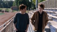 LOUDER THAN BOMBS, from left: Jesse Eisenberg, Devin Druid, 2015. © The Orchard