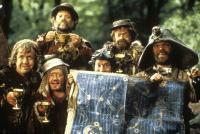 TIME BANDITS, top: Malcolm Dixon, Tiny Ross, second row: Mike Edmonds, Kenny Baker, David Rappaport, Jack Purvis, 1981. TM and ©Copyright Twentieth Century Fox. All rights reserved.