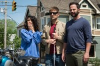 MY BLIND BROTHER, from left: Jenny Slate, Adam Scott, Nick Kroll, 2016. © Starz Digital Media