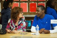 THE MEDDLER, from left: Susan Sarandon, Jerrod Carmichael, 2015. ph: Jaimie Trueblood/© Sony Pictures Classics