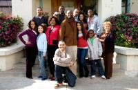 THIS CHRISTMAS, top row: Laz Alonso, Idris Elba, Columbus Short, Sharon Leal, Keith Robinson, middle row: Regina King, Ambrosia Kelley, Loretta Devine, Delroy Lindo, Lauren London, Javion Francis, Lupe Ontiveros, front: Chris Brown, 2007. ©Screen Gems