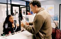 THE TERMINAL, Zoe Saldana, Diego Luna, Tom Hanks, 2004, (c) DreamWorks