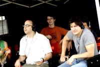 THE TEN, director David Wain, writer Ken Marino, on set, 2007. ©Think Film