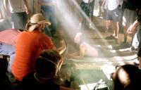 THE TEXAS CHAINSAW MASSACRE, Director Marcus Nispel, Jessica Biel on the set of, 2003, (c) New Line