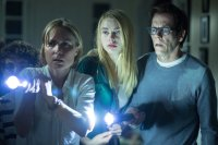 THE DARKNESS, from left: David Mazouz, Radha Mitchell, Lucy Fry, Kevin Bacon, 2016. © High Top Releasing