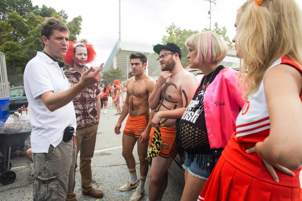 NEIGHBORS 2: SORORITY RISING, director Nicholas Stoller, Ike Barinholtz, Zac Efron, Seth Rogen, Carla Gallo, Rose Byrne, 2016. ph: Chuck Zlotnick/©Universal Pictures