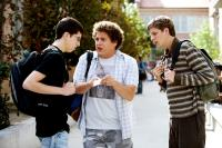 SUPERBAD, Christopher Mintz-Plasse, Jonah Hill, Michael Cera, 2007. ©Columbia Pictures