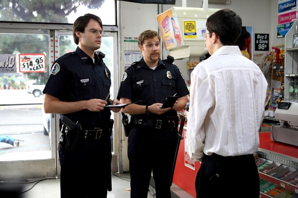 SUPERBAD, Bill Hader, Seth Rogen, Christopher Mintz-Plasse, 2007. ©Columbia Pictures
