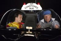 SUPER CAPERS, from left: Justin Whalin, Adam West, 2009. Ph: Phil Nee/©Roadside Attractions