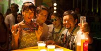 SUNDOWN, l-r: Camilla Belle, Devon Werkheiser, Sean Marquette, Silverio Palacios, 2016. ©Pantelion Films