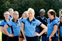 ST. TRINIAN'S, Lucy Punch (foreground center, blonde bangs), 2007, ©NeoClassics Films