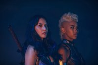 X-MEN: APOCALYPSE, from left: Olivia Munn, as Psylocke, Alexandra Shipp, as Storm, 2016. ph: Alan Markfield/TM and Copyright © 20th Century Fox Film Corp. All rights reserved.