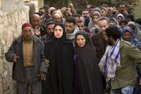 THE STONING OF SORAYA M., Mozhan Marno (left of center), Shohreh Aghdashloo (right of center), 2008. ©Roadside Attractions