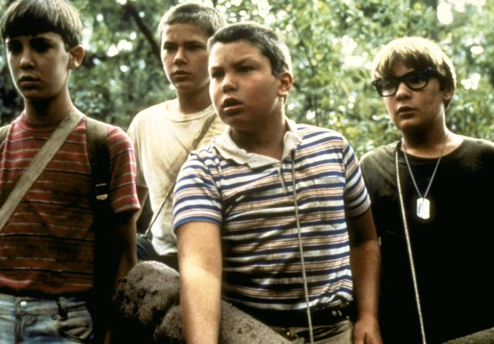 STAND BY ME, Wil Wheaton, River Phoenix, Jerry O'Connell, Corey Feldman, 1986. ©Columbia Pictures